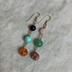 Mismatched Gemstone Earrings